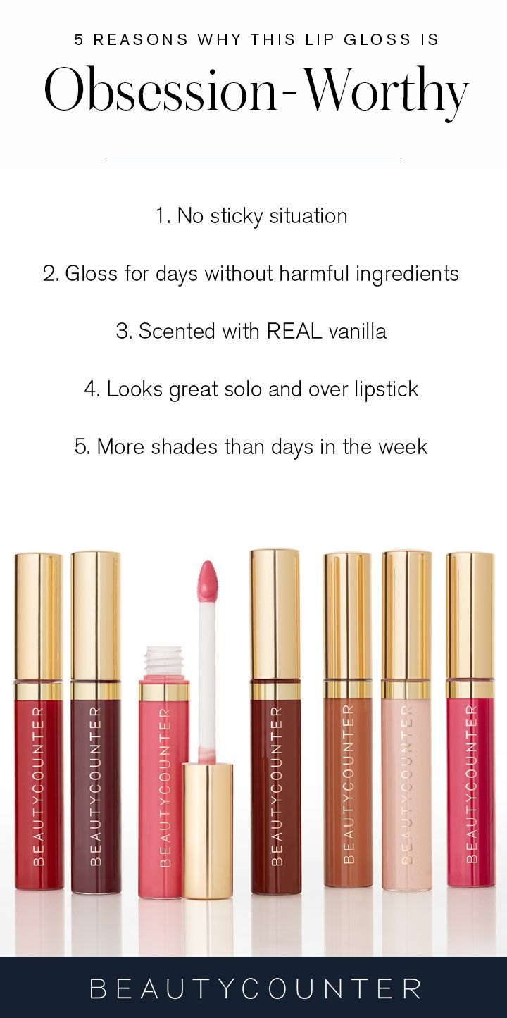 It goes without saying that the perfect lip gloss is definitely hard to find. You want something that has amazing color, isn't sticky, stays on after a sip from a drink, and doesn't contain harmful ingredients. Your search stops here… Our Lip Gloss checks all the boxes. Made with carnauba wax, jojoba oil, and vitamin C, Beautycounter Lip Gloss stays smooth and fresh longer. Each sheer color conditions and moisturizes lips and adds lots of shine.