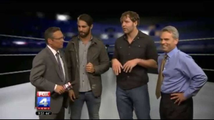Dean Ambrose and Seth Rollins on Fox4 News