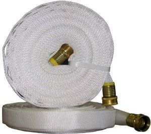 The Rumford Gardener WD6100 Tuff Guard Flat Hose, 100-Foot by The Rumford Gardener. $81.69. Remains flexible in extreme cold. 5/8-Inch inside diameter. Made in Canada. Chemical and UV resistant. Patented Mertex inner lining for unrestricted flow. The Tuff Guard Flat Hose was developed from the same technology used in fire suppression hoses, and combines high performance in a lightweight and durable package. The patented Mertex inner lining provides lower friction loss than...
