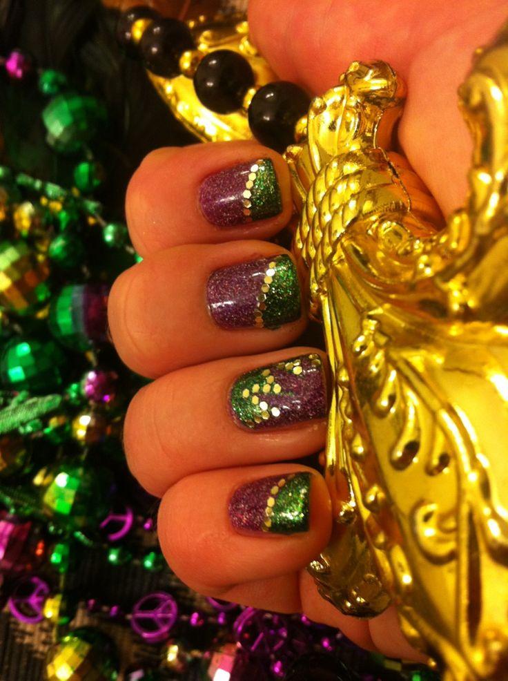 31 best Mardi Gras nails images on Pinterest | Belle nails, Mardi ...