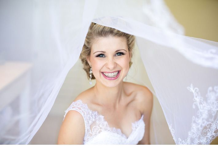 What a radiant bride!