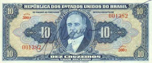 10 Крузейро (1943) Бразилия (Brazil) Южная Америка