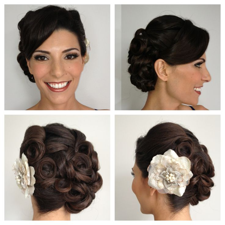 pin curl updo ideas