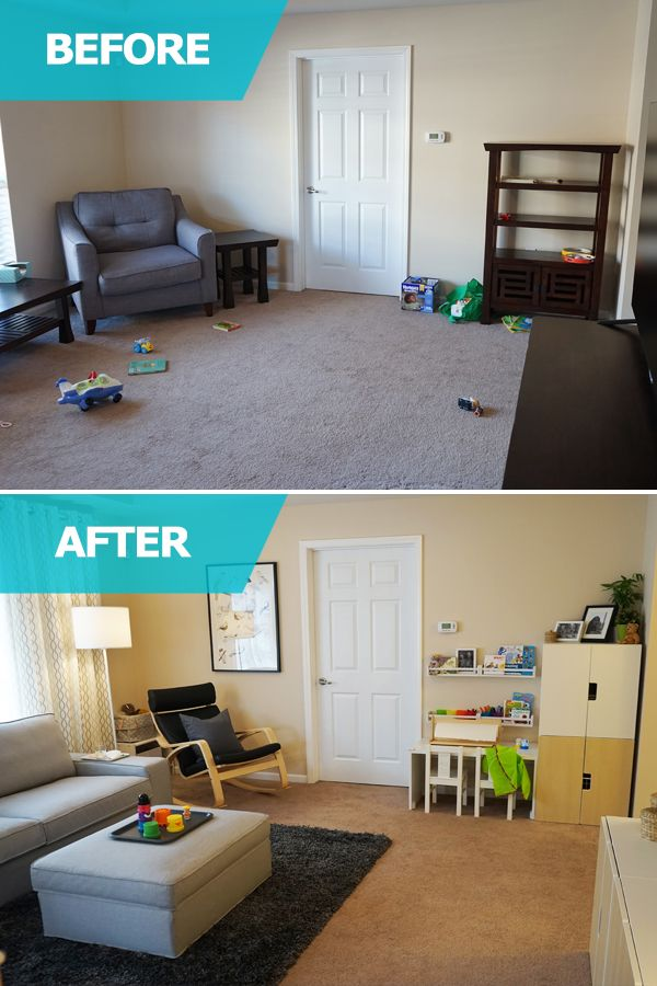 Before Beckys Living Room Lacked Soft Seating And Kid Friendly Storage With A Little Help From The IKEA Home Tour Squad Became