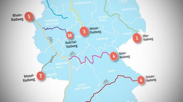 Die zehn schönsten Radfernwege in Deutschland
