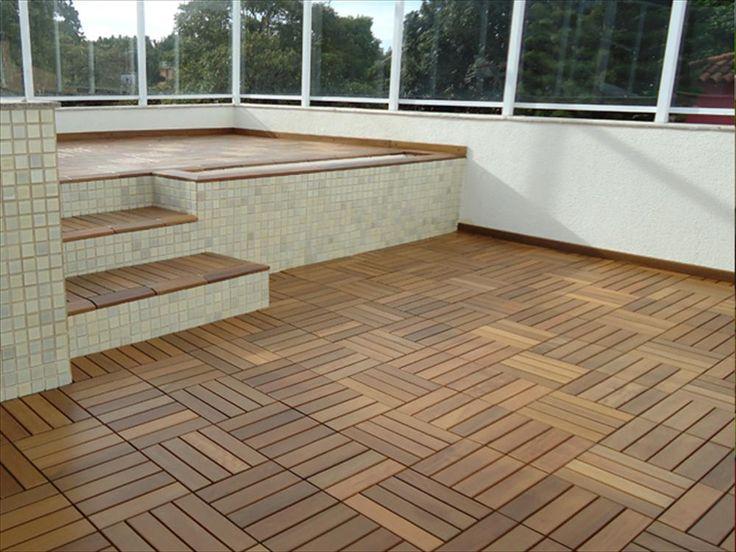 Builddirect Flexdeck Interlocking Wood Deck Tile