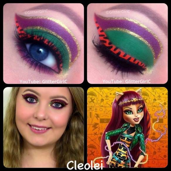 Monster High Cleolei Makeup. Youtube channel: full.sc/SK3bIA