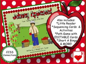 Johnny Appleseed Singable, Mini-Movie & MORE! {CCSS}