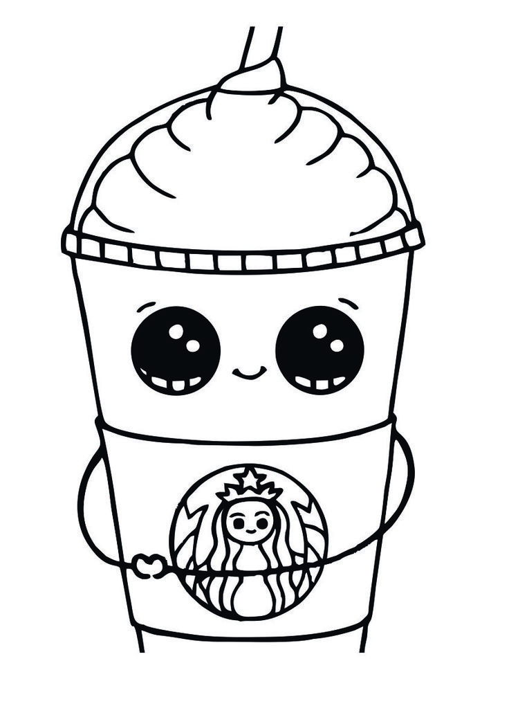 Starbucks Coloring Pages to Print Cute coloring pages