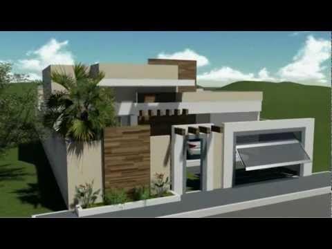 45 plantas de casas modernas e lindas com projeto 3d for Simulador de casas 3d gratis