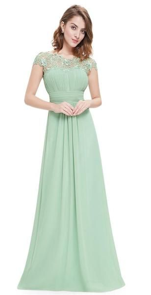 KATIE-Sage Green-Sage-Green-Bridesmaid-Long-Dress-Formal-Holiday-Prom-Ballgown-Evening-Wedding-Bride-Bridal-Chiffon