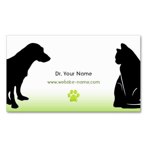 17 Best images about Vet Business Cards on Pinterest   Trainers ...