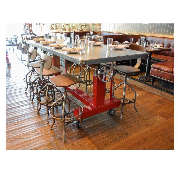 Custom-made dinning table.