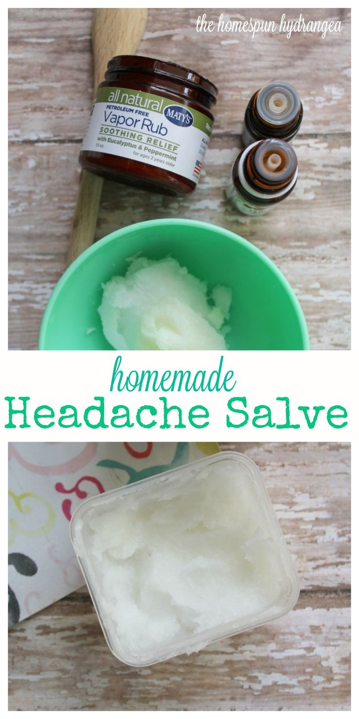 Soothe a sore head with this all natural homemade headache salve using Maty's Natural Health products and essential oils.