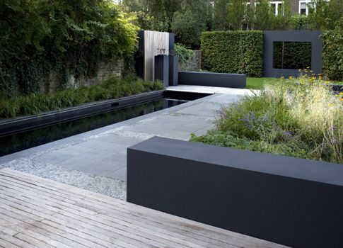Contemporary garden design garden in the city pinterest jardins design et terrasses for Tuin modern design