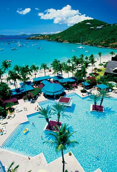 St. John's Westin.  Most amazing bay's!  Trunk Bay was beautiful - rent a small boat and explore the coves!