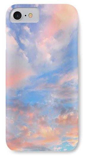 Jane Star IPhone 7 Case featuring the photograph Vanilla Sky by Jane Star  #JaneStar #IPhoneCase #Sky #VanillaSky #ColorfulSky