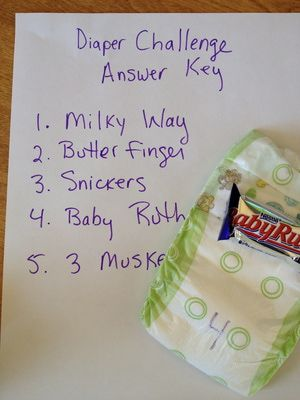 6 Steps to Playing the Baby Shower Diaper Game: Create an Answer Key