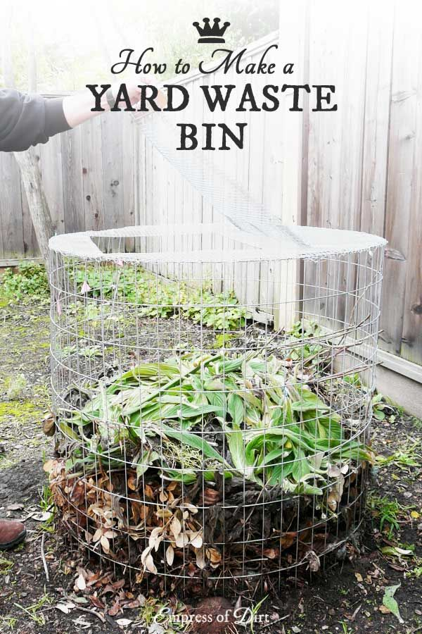 How+to+Make+a+Yard+Waste+Bin