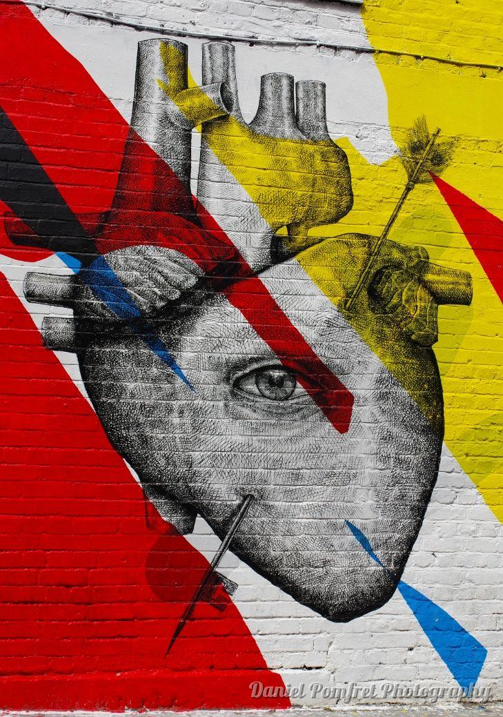 Alexis Diaz, Street Art, Brick Lane, London, Heart 2014836