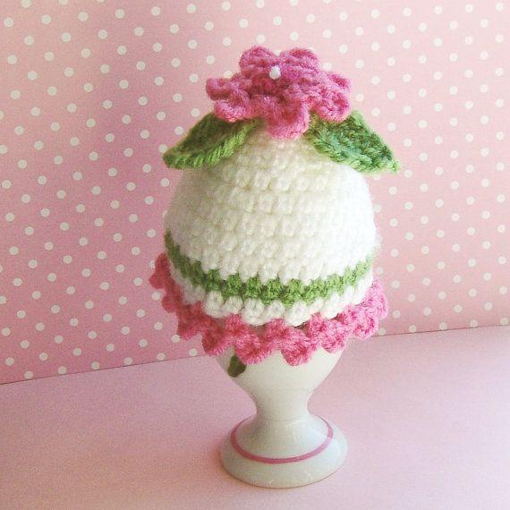 Ei-gemütlich Ei wärmer-häkeln mit rosa von trudette4crochet