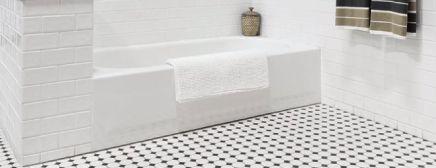 Retro |Retrouvez le look classique des années 50!... Émergeant de nouveau à la cime des tendances contemporaines, les mosaïques octogonales et hexagonales meubleront parfaitement le plancher de vos salles de bains ou tout autre espace auquel vous désirez conférer cet original cachet rétro.
