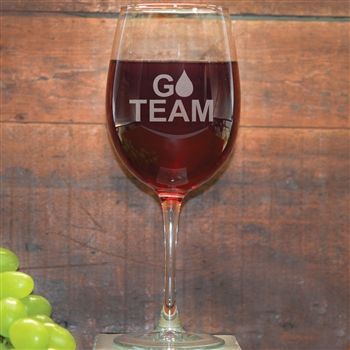 Our TNT Team in Training Go Team Wine Glass is the perfect glass to relax with after a great run. This wine glass engraved with one of our e...