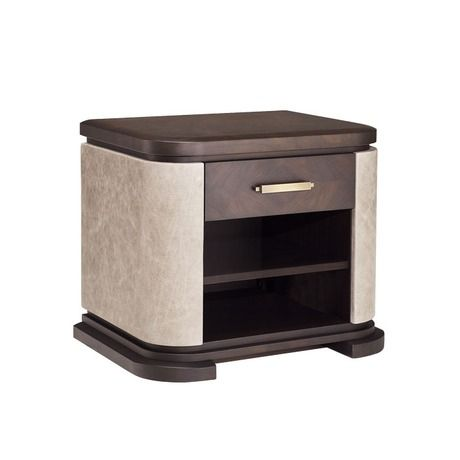 SOPHISTICATED NIGHTSTAND WITH ONE DRAWER   A simple yet sophisticated nightstand for luxury master bedrooms   www.bocadolobo.com #bedroomdesign #bedroomfurniture