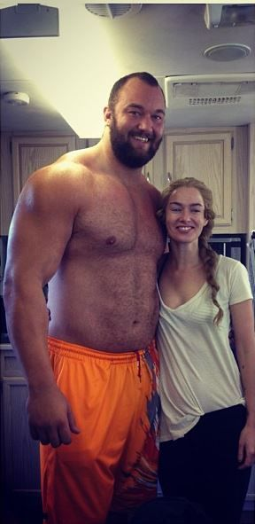 Surely he belongs in an alien sci-fi romance book somewhere!  This is the actor (Hafthor Julius Bjornsson) who is portraying The Mountain in Season 4 of Game of Thrones. Cersei for scale. - Imgur
