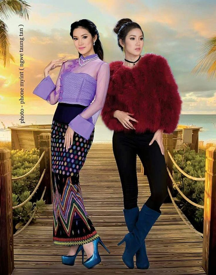 Myanmar dresses - traditional and modern