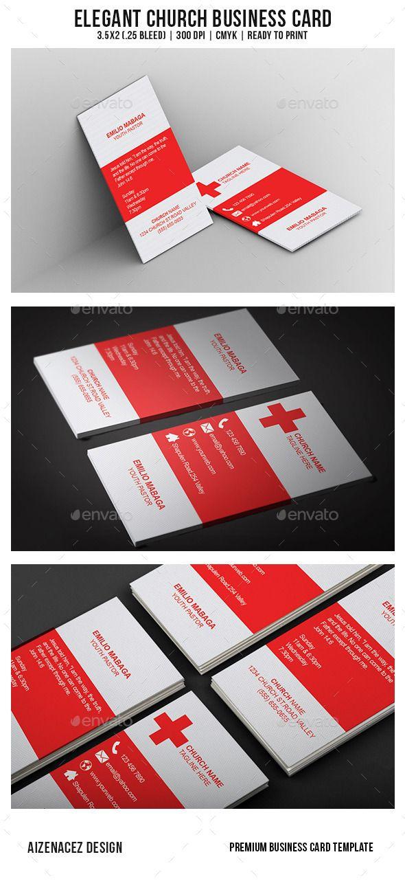 Elegant Church Business Card | Church, Business card templates and ...