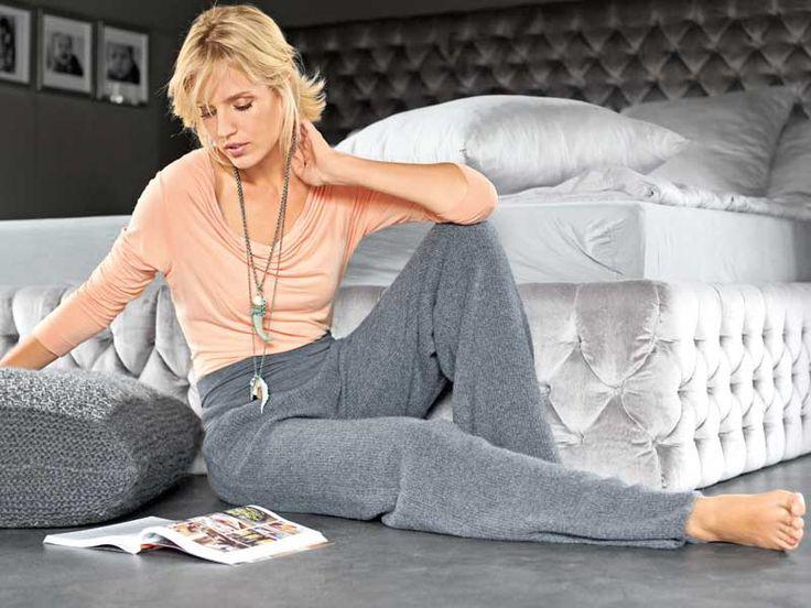 """Описание вязания на спицах домашних брюк из журнала """"Verena. Специальный выпуск"""" №3/2013"""