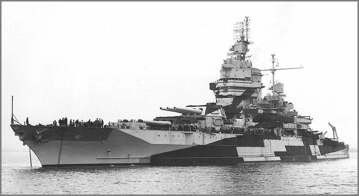 14 in reconstructed dreadnought USS New Mexico, lead ship of her class of three, pictured at Puget Navy Yard on October 21 1944. A kamikaze hit on her bridge on 6 January 1945 killed Britain's highest ranking casualty of WW2, Lt Gen Herbert Lumsden, Churchill's personal military representative to General MacArthur: her Captain and 29 of her crew also died. She was scrapped in 1947.