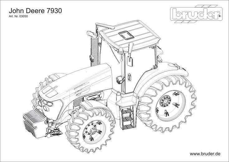 traktor bruder kolorowanka 03050 (With images