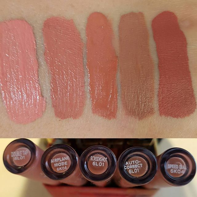 Colorpop peach collection swatches