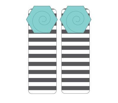girls: leg warmers - stripes with seafoam flower