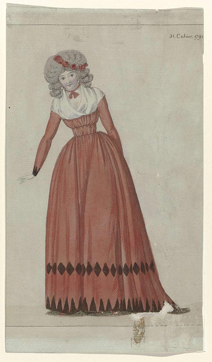 Journal de la Mode et du Goût, 25 décembre 1791, 31e cahier, pl. 1, M. Le Brun, 1791