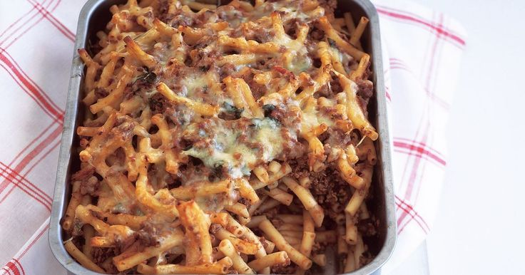 Be budget-wise. Make a big batch of beef mince and then use some in this tasty pasta bake. Freeze the rest for later in the month.
