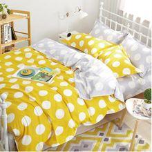 Sleepwish горошек постельные принадлежности постельное белье пододеяльник на кровати матрас 4 шт. покрывало горячие кувертюр де горит(China (Mainland))