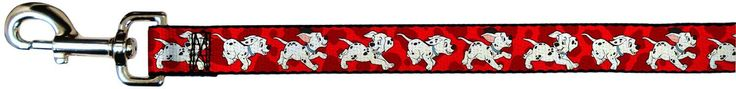 Disney Dalmatians Running/Paws Reds/White/Black Dog Leash 1.0' Wide ** To view further for this item, visit the image link. (This is an affiliate link and I receive a commission for the sales)