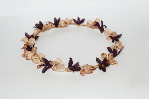Gentleness floral crown floral headband floral by FlorangeDeXeni