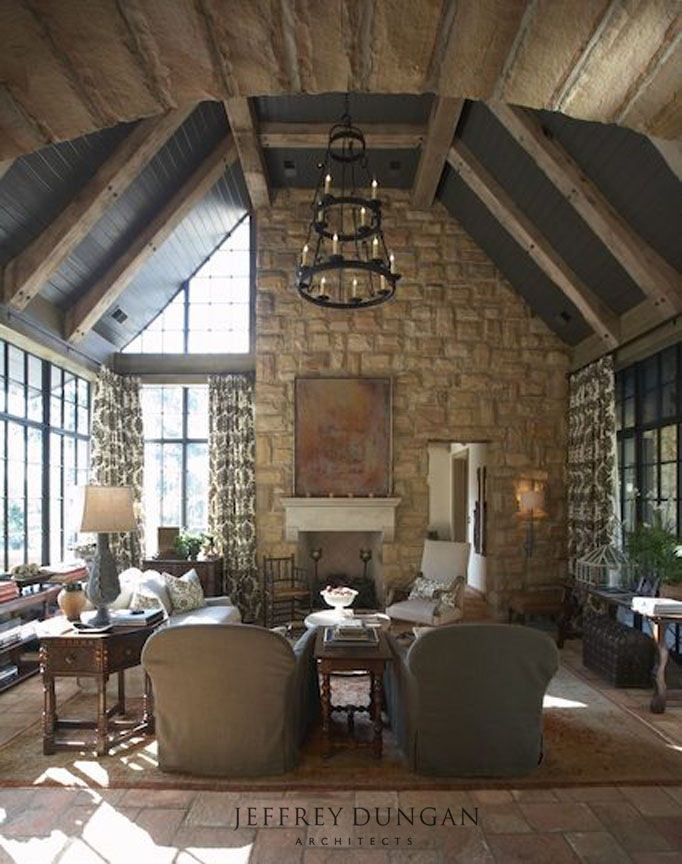 Interesting Half Stone Wall Window  With Fireplace? Amazing Family Room  Design   Home And Garden Design Ideau0027s