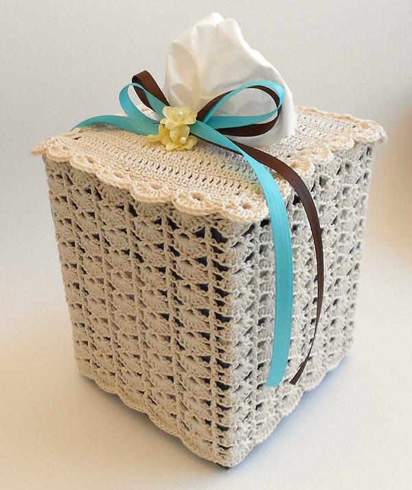 Crochet Lace Tissue Box Cover