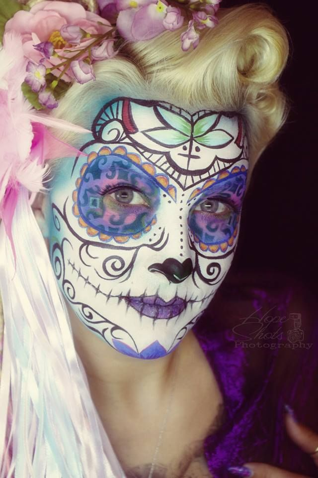 Hope Shots Photography Artist Unique Irish Model Heather B. M. Sugar Skull Face painting