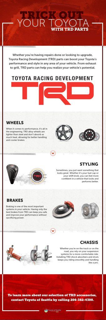 Trick out your Toyota with these TRD parts! #infographic