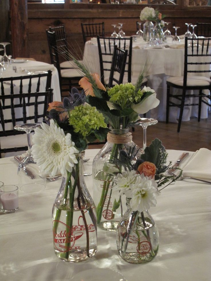 Images about milk bottle centerpieces on pinterest