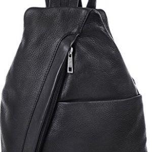 ESTABLISHED-SEVENTY9-Bolso-mochila-de-cuero-para-mujer-negro-negro-0