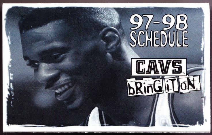 1997-98 CLEVELAND CAVALIERS SHERWIN WILLIAMS PAINT BASKETBALL POCKET SCHEDULE #SCHEDULE