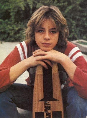 "70s- Skateboarder  Actor Leif Garrett while filming the movie ""Skateboard"""