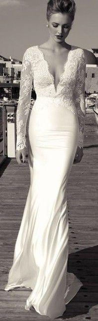 Contemporary, sexy, sleek, daring wedding dress perfect for a formal wedding